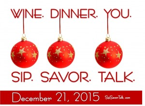 SipSavorTalk - December 21 Save the Date